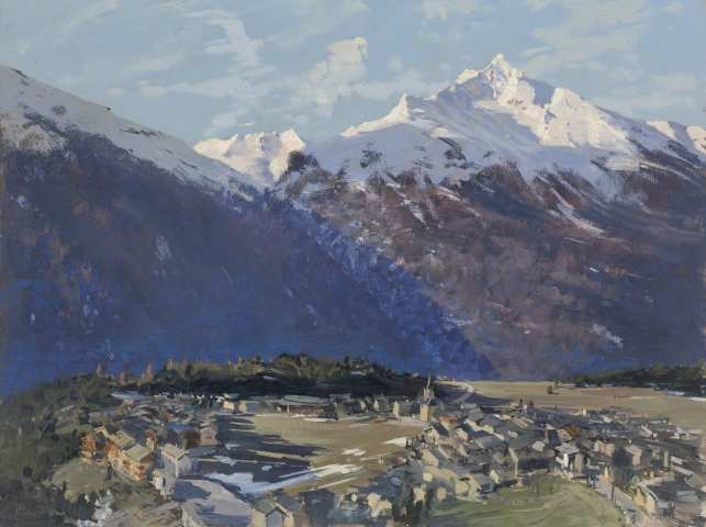 Peter Brown ROI NEAC, Morning Aussois, French Alps