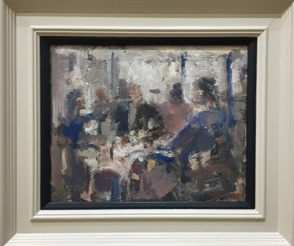 Ian Norris MAFA, Morning Papers Study (Brucciani's Cage, Preston), 2016