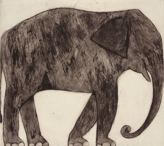 Kate Boxer, Elephant (Mounted)