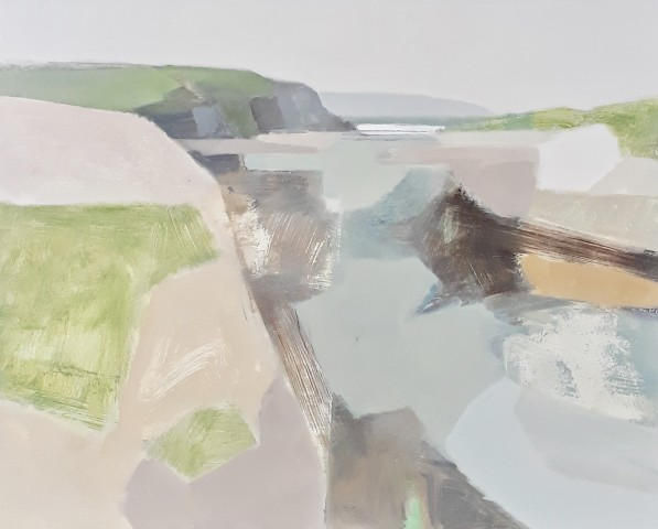 Myles Oxenford, Hayle River Mouth towards St. Ives (Hungerford Gallery)