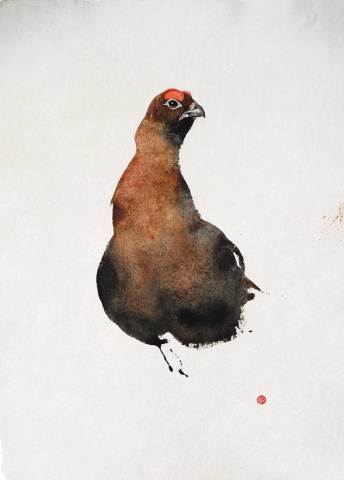 Karl Martens, Red Grouse II (Framed) (London Gallery)