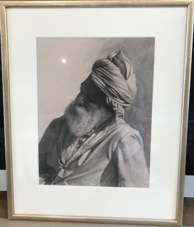 Mark Clark, Rajasthani Man II, Jodhpur (London Gallery)