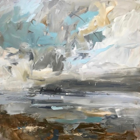 Louise Balaam, Turquoise Sky East Coast (Hungerford Gallery)