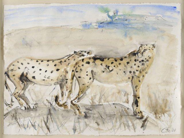 Christine Seifert, Cheetahs (Framed)