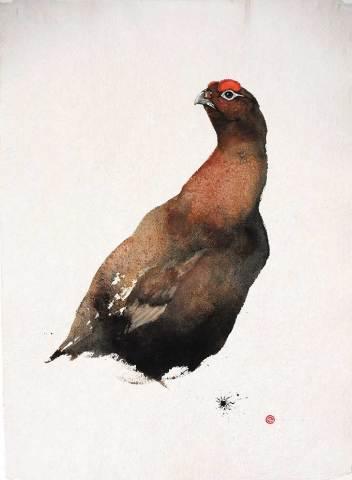 Karl Martens, Red Grouse I (Framed) (London Gallery)