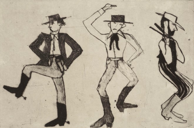 Kate Boxer, Cowboy Dancers (Mounted)