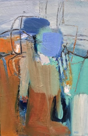 Blue-Green Abstract (Hungerford Gallery)