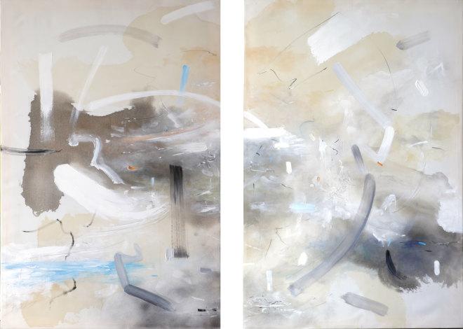 Bob Aldous, Diptych - A Bridge between East and West (London Gallery)