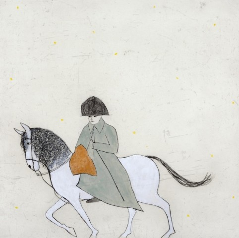 Kate Boxer, Napoleon in the Snow (Mounted)