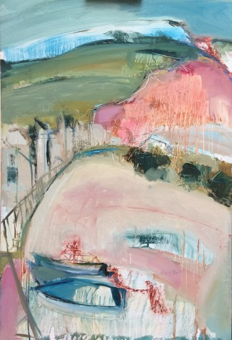 Jo Vollers, Boats at Sidmouth (Hungerford Gallery)
