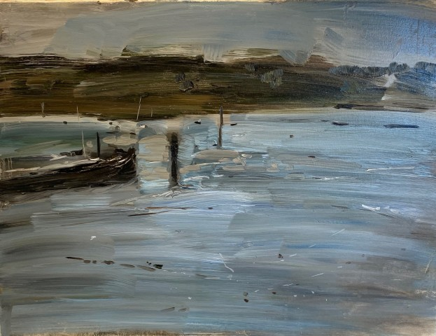 Barge at Woodbridge II (Hungerford Gallery)