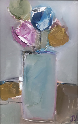 Jo Vollers, Blue Vase (Hungerford Gallery)