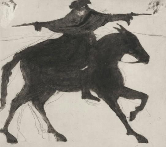 Kate Boxer, Dick Turpin on his way to York (Mounted)