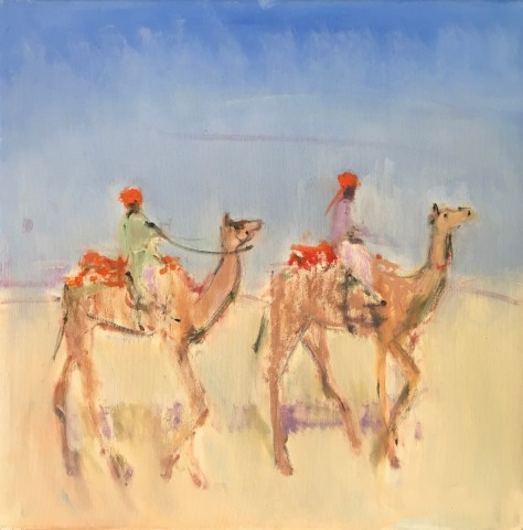 Ann Shrager, Two Boys on Camels (Hungerford Gallery)