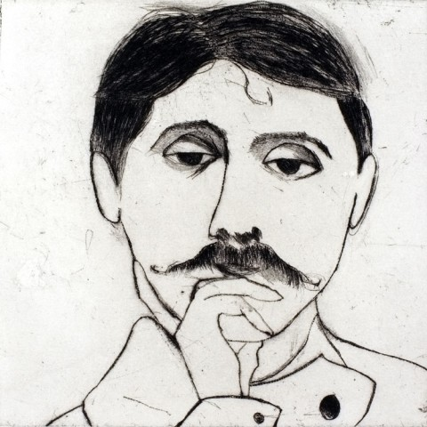 Kate Boxer, Marcel Proust (Mounted)