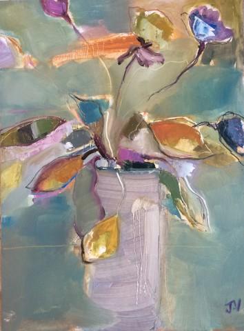 Jo Vollers, Anemones in Vase