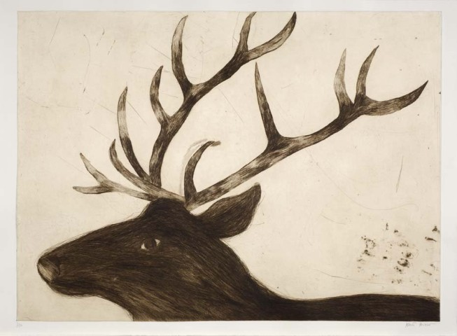 Kate Boxer, Stag (Mounted)