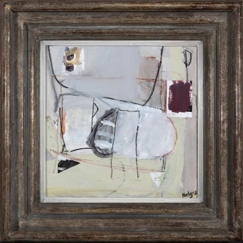 Felice Hodges, Composition: Maroon and Yellow (London Gallery)