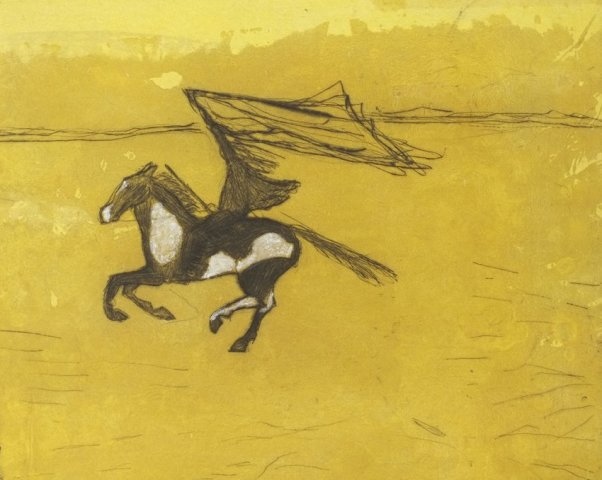 Kate Boxer, Geronimo (Mounted)