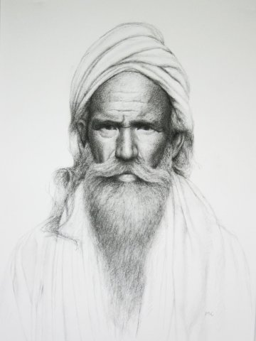 Mark Clark, Rajasthani Man (Hungerford Gallery)