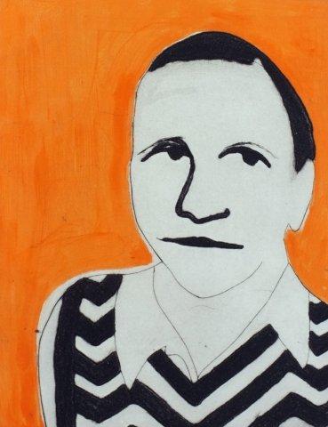 Kate Boxer, Gertrude Stein (Mounted)