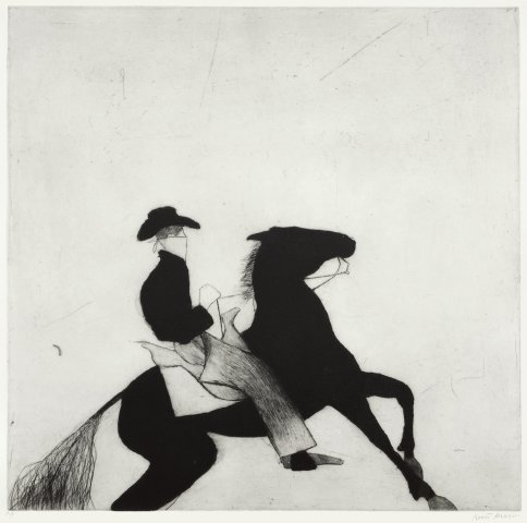 Kate Boxer, Cowboy and Horse (Mounted)
