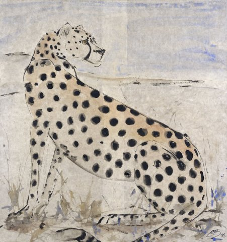 Christine Seifert, Sitting Cheetah (London Gallery)