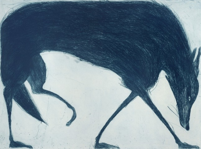 Kate Boxer, Blue Wolf (Mounted)