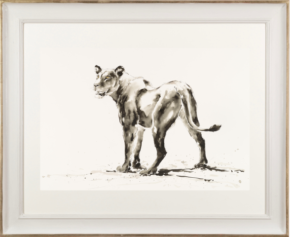 Julia Cassels, Lioness (Hungerford Gallery)