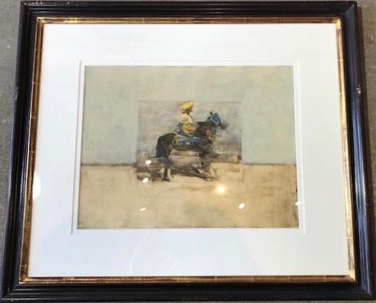 Antoine de La Boulaye, Orientalist Horseman II (London Gallery)