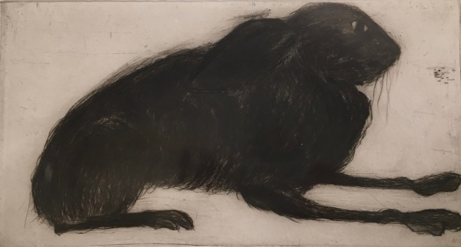 Kate Boxer, Hare (Mounted)