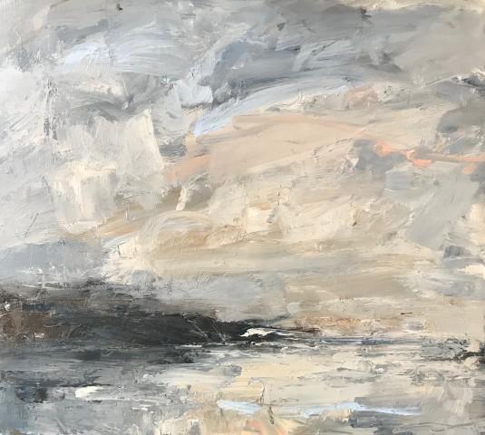 Louise Balaam, Pale Golden Clouds (Scottish Coast) (London Gallery)