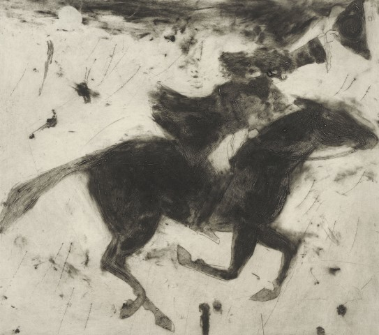 Kate Boxer, Dick Turpin leaving for York (Mounted)