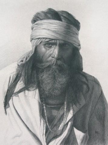 Mark Clark, Rajasthani Man, Pushkar (London Gallery)