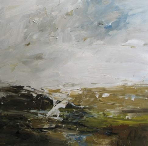 Louise Balaam, Preseli Hills, Glancing Light (London Gallery)