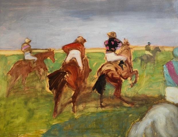 Antoine de La Boulaye, Under Starters Orders (Hungerford Gallery)