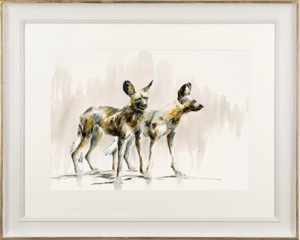 Julia Cassels, Wild Dogs I (Hungerford Gallery)