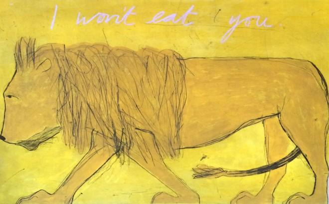 Kate Boxer, I Won't Eat You (Mounted)