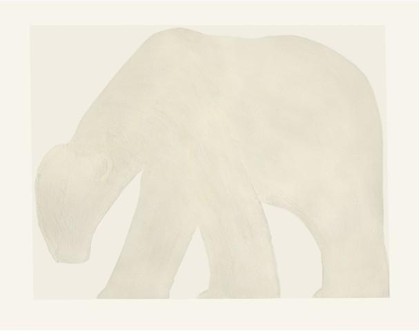 Kate Boxer, Polar Bear - White (Mounted)