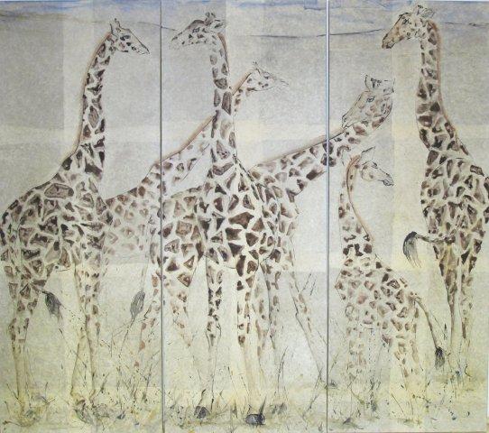Christine Seifert, Giraffe (Triptych) (Hungerford Gallery)