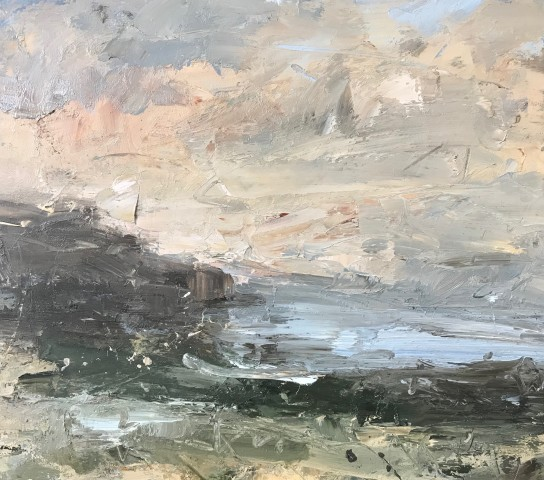 Louise Balaam, Sky, Water, Rock (Hungerford Gallery)