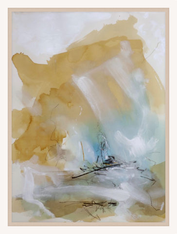 Bob Aldous, Turqouise and Gold (Hungerford Gallery)