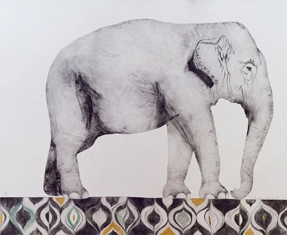 Beatrice Forshall, Indian Elephant (Unframed)