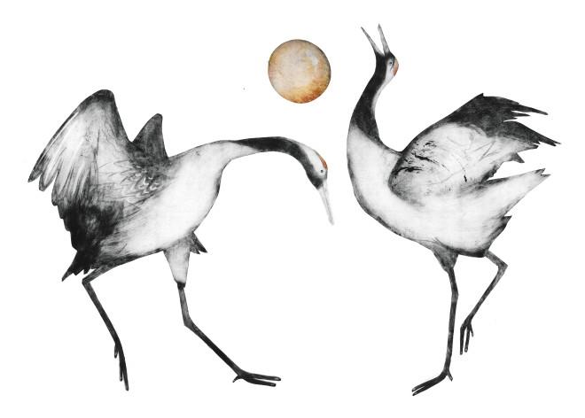 Beatrice Forshall, Japanese Cranes (Unframed)
