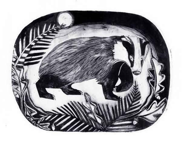 Beatrice Forshall, Badger (Unframed)