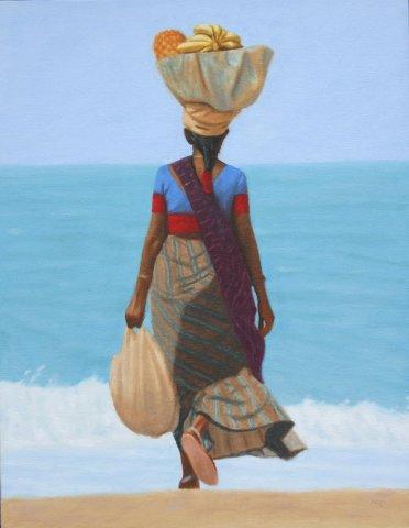 Mark Clark, Fruit Seller, Goa (London Gallery)