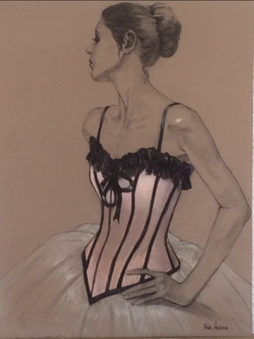Katya Gridneva, Danseur in a Pink Corset (Hungerford Gallery)