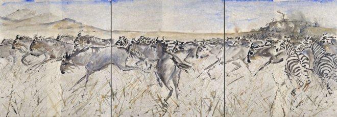 Christine Seifert, Migration (Triptych) (Unframed) (Hungerford Gallery)