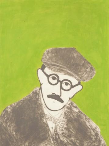 Kate Boxer, James Joyce (Mounted)