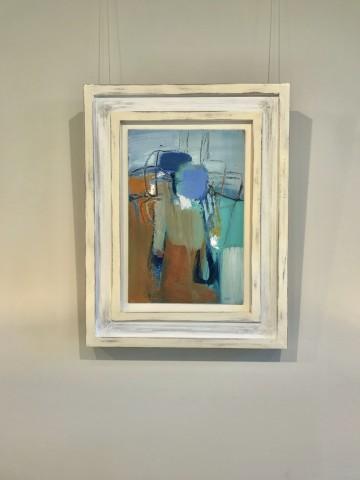 Dafila Scott, Blue-Green Abstract (Hungerford Gallery)
